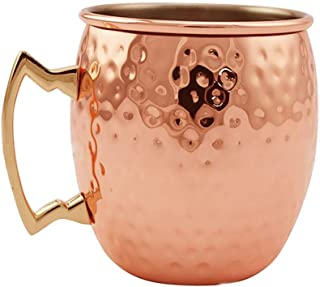 Moscow Mule Stainless Mugs, Handcrafted Convenient Premium Gift Set with Copper Straws Non-slip Durable, for Home Bar Part...