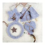 Lynn Christmas Ornaments Set de 3 Pack Christmas Tree Plush Hanging Ornaments Decoración de Navidad Set de 3 Pack Árbol de Navidad de peluche, adornos colgantes de decoración para fiestas de Navidad