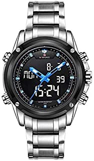 Naviforce Casual Watch For Men Analog-Digital Stainless Steel - NF9050-8