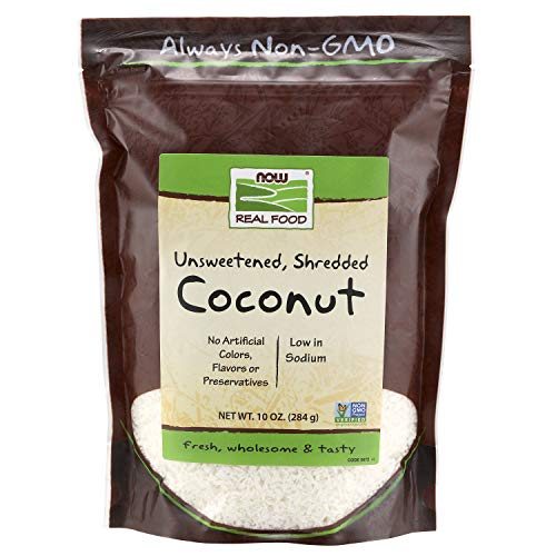NOW Foods, Coconut, Unsweetened and Shredded, No Added Colors, Flavors or Preservatives, 10-Ounce