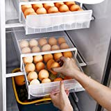 NEWFORCE 30 Grid Single Layer Egg Holder for Refrigerator, BPA Free Egg Storage Container for...