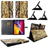 wirlesspulse TPU Shell Case for iPad Pro 12.9 20202019 Camo RT Slim PU Leather Folding Stand Cover with Auto WakeSleep for 12.9 Inch