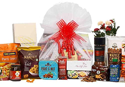 The Gift Tree Coffee, Chocolates & Savories Gift Hamper | 14 Premium Items, Attractive Packaging & Best Quality Products | Gift for Birthday, Anniversary, Festivals, Men, Women