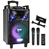 "Moukey Portable PA Speaker System Karaoke Machine Peak Power 520W 10"" with Wireless"