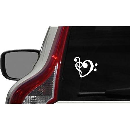 Music notes Heart car decal sticker bumper laptop choir teacher band