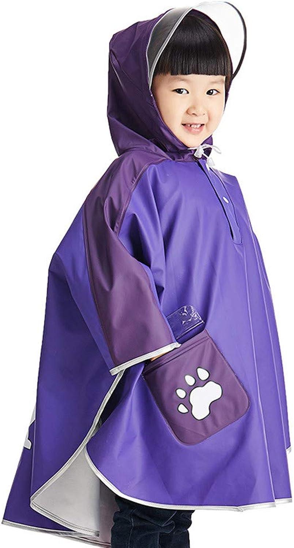 Water Resistant Raincoat Waterproof Hooded Coat Jacket Outwear Raincoat Hoodies (color   Purple, Size   Large)