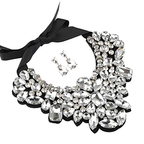 Holylove Statement Necklace Costume Jewelry Sets for Women with Earrings