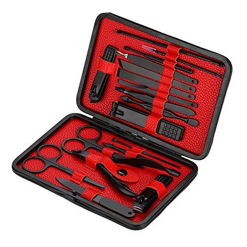 Manicure set 16 pezzi, set per la cura delle unghie, set manicure, set da viaggio per manicure pedicure, unghie professionali in acciaio inossidabile, unghie tagliate, kit di taglio rapido per strumen