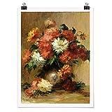 Bilderwelten Poster Auguste Renoir Stilleben mit Dahlien
