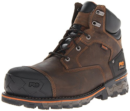 Timberland PRO Men's Boondock 6 Inch Composite Safety Toe Waterproof Industrial Work Boot, Brown Oiled Distressed, 12