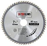 Saxton <span class='highlight'>TCT</span> <span class='highlight'>Circular</span> <span class='highlight'>Wood</span> <span class='highlight'>Saw</span> <span class='highlight'>Blade</span> 185mm x 60T fits Evolution Rage <span class='highlight'>Saw</span>s - Includes 25.4mm Reduction Ring