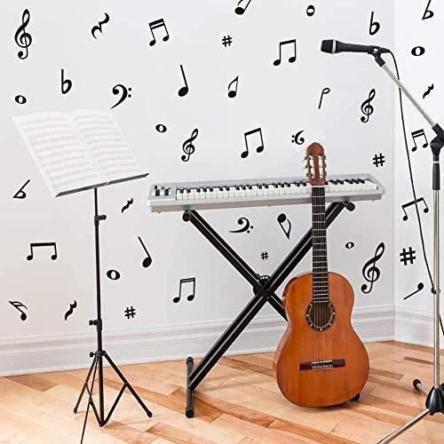 Adhesivo de pared con notas musicales, para decoración de estudio de música o habitación infantil de clase