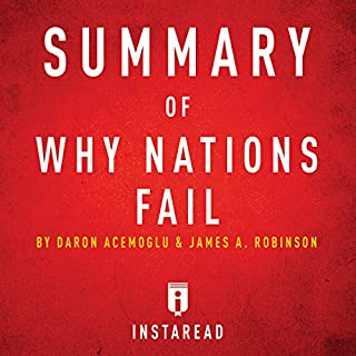 Summary of Why Nations Fail by Daron Acemoglu and James A. Robinson | Includes Analysis audiobook cover art