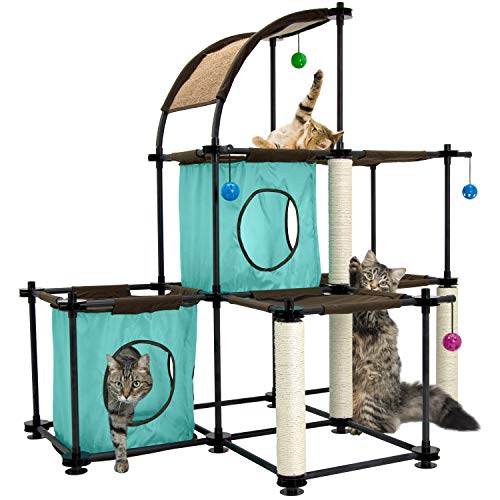Kitty City Claw Mega Kit Cat Furniture, Cat Sleeper, Corrugate Cat Scratcher