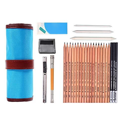 Kit de dessin professionnel pour croquis et crayons de croquis pour enfants, adultes, artistes et étudiants 29 pièces