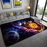 ntduee Space Universe Planet Rugs, Bedroom Living Room Living Room Rug, Floor Pad Rugs Standing Mat, Children Kids Play Rug Carpet Spa Bathroom Floor Mats, Throw Rugs Carpet (Multi 5)