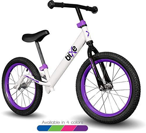 "Bixe 16"" Pro Balance Bike for for Big Kids 5, 6, 7, 8 and 9 Years Old (Violet)"