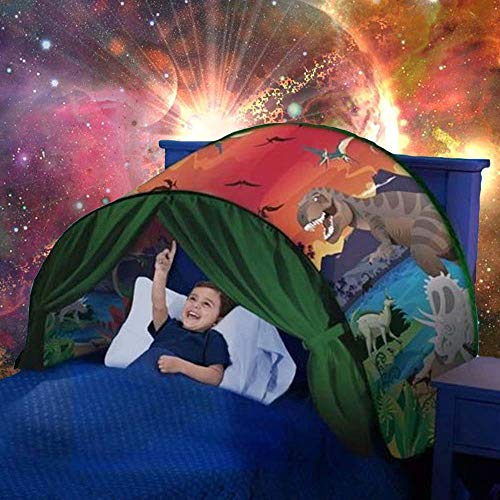 Yeahs Shop Kids Dream Bed Tent - Magical Dinosaur Bed Tent Pop up Playhouse Castles for Birthday Party Room Decor Boys & Girls