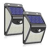 JYDQM 222 luz Solar LED al Aire Libre 4 Modos Sensor de Movimiento PIR luz de Pared lámpara Solar Impermeable luz Solar decoración de jardín (Size : Two Pieces)