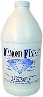 Diamond Finish 64oz Refill Multi Surface Nano Cleaner Polish Protector for Vehicles, Home, Boats; Removes Bug Residue, Tar, Bird Poop, Brake Dust, Tree Sap, Grease, Fingerprints - While it Shines