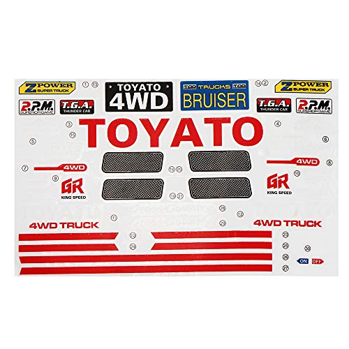 Toys Hobbies HG P407 1/10 RC Car Model Spare Parts DIY Stickers Decals Sheet for TOYATO Body Accessory