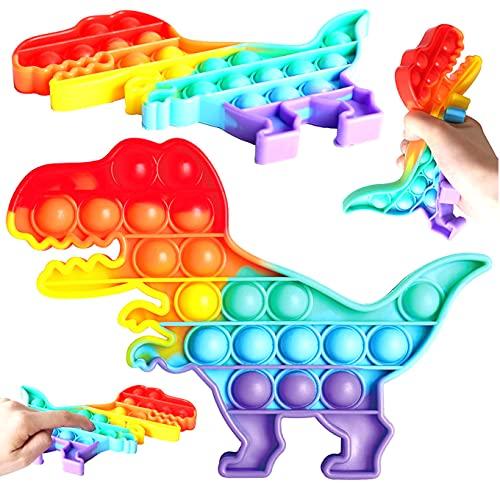 NF ROADTOLOVE Fidget Toy Juguete Antiestres, Pop It Sensorial Dinosaurio para Niños y Adultos, Bubble Push Pop it Dino, Juguetes Antiestrés de Explotar Burbujas para Aliviar estrés y Ansiedad.