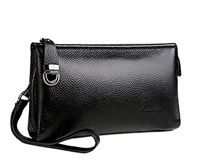 Men's Clutch Bag Handbags Genuine Leather Wallets Business Organizer Purse Rangren