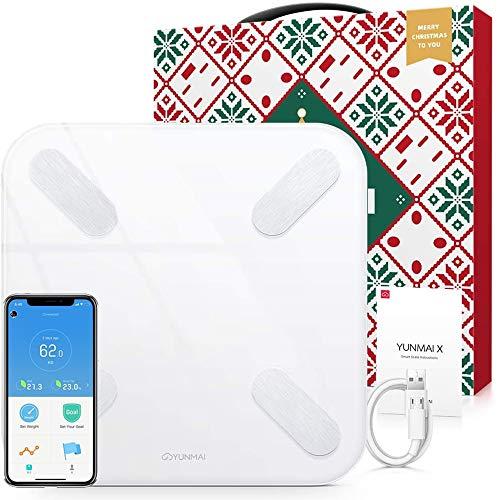 YUNMAI X Körperfettwaage mit App, Digitale Personenwaage mit Bluetooth Körperanalysewaage Smart Waage für 17 Körperdaten Körperfett, BMI, Gewicht, Muskelmasse, Wasser, Protein Apple & Android
