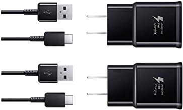 Wall Charger Fast Charger-Adaptive Fast Charger Kit for Samsung Galaxy S8/S9/S10 Plus/Note8/9, Recharger Kit Include 2 xCharging Adapter & 2 x Type-C USB Cable, Aolerx