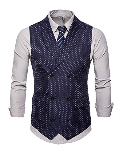 Hombre Slim Fit Chalecos Botón Sin Mangas Solapa Color Sólido Elegante Chaqueta