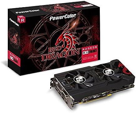 PowerColor Red Dragon AXRX 570 4GBD5-3DHD/OC - Tarjeta gráfica (Radeon RX 570, 4 GB, GDDR5, 256 bit, 4096 x 2160 Pixeles, PCI Express 3.0)