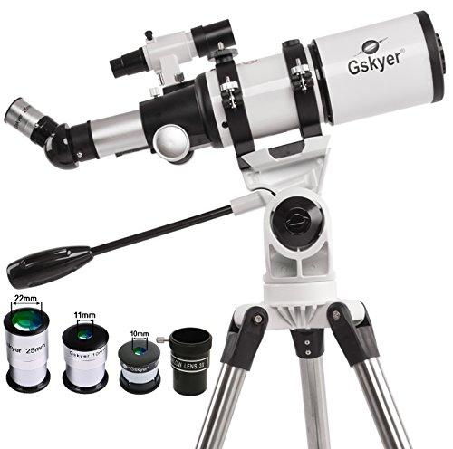 Gskyer Telescope, Telescopes for Adults, 80mm AZ Space Astronomical Refractor Telescope, Telescope for Kids, Telescopes for Adults Astronomy, German Technology Scope