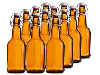 Chef's Star CASE OF 12 - 16 oz. EASY CAP Beer Bottles