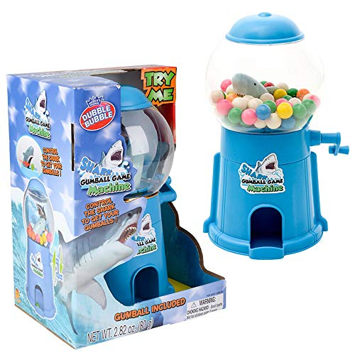 Zugar Land 9quot Manual Gumball Machine Bank Game with 80g Gumballs Included Shark