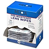 Premoistened Lens and Glass Cleaning Wipes - Portable Travel Cleaner for Glasses, Camera, Cell Phone, Smartphone, and Tablet - Disposable, Quick Drying, Streak Free - Individually Wrapped, Pack of 200
