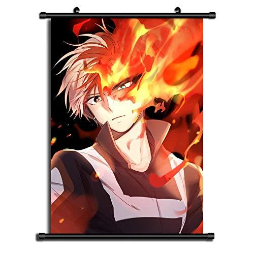 GMANKE boku no Hero Academia Anime Wall Scroll Poster Tela Pintura,E,60X90cm