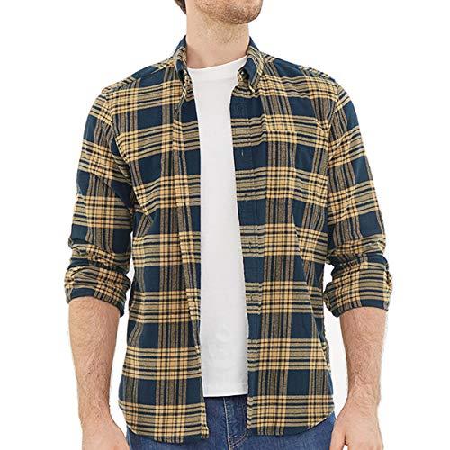 Dubinik Flannel Shirts for Men Long Sleeve Button Down