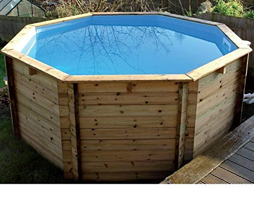 PLASTICA achteckig Holz Fun Pool 8 ft X 76,2 cm