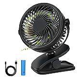 DIAOCARE Ventilador USB,Portátil Mini Ventilador USB Silencioso,3 Velocidades,Recargable 360 Grados de Rotación Ventilador con Clip,Ventilador de Mesa para Cochecito de Bebé/Coche/Viajes/Oficina/Hogar