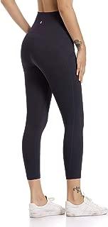 Hawthorn Athletic Women's Essential High Waist Yoga Capri Legging Active Crop Pants with Side Pockets-21''