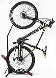 Hasit Bike Floor Stand Bike Rack Stand for Vertical/Horizontal Indoor Mountain Bike,Road Bike Storage Fits 20'-27' Mountain Bikes,650C -700C Road Bikes - Space Saving - No Need to Damage Wall