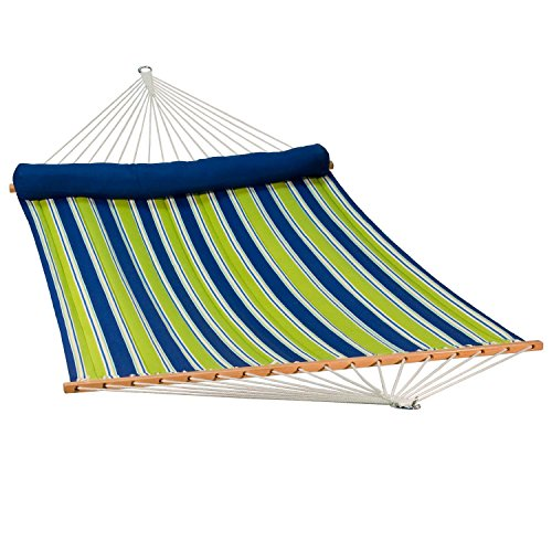 Algoma 2937DL Quilted Hammock w/Matching Pillow, 500 lbs. Cap /13' L, Blue