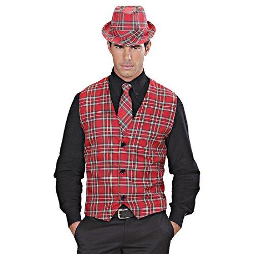 NET TOYS Herren Weste kariert Kostüm Schotte XL 54 Karo Herrenweste Schotten Trachtenweste Schottenkostüm Schottenweste Karoweste