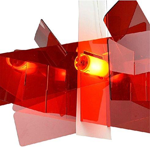 Diam. 65 cm/95 cm moderne Big Bang à empiler Créatif moderne lustre Éclairage en pandant Plafonnier E27 Ampoules LED 90–260 V Rot 95 Cm.