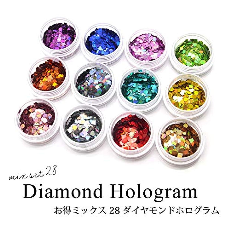 クリア売上高ごみネイル レジン お得ミックス 28 ダイヤモンドホログラム