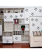 20 stuks voetbalstickers, kunst wooncultuur voetbal muurstickers voor jongenskamers, voetbal-sport muurstickerset vinyl voetbal muur kunststickers voor jongens slaapkamer speelkamer woonkamer