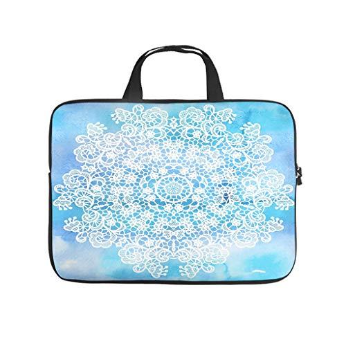 Bolsa para ordenador portátil de 13 a 15,6 pulgadas, color azul claro