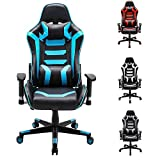 Hironpal PC Gaming Chair Computer Chair Office Chair Blue Racing Rocker Chair Ergonomic