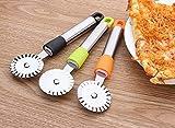 Rotelle Tagliapizza,Coltello Per Pizze In Acciaio Inox Con Lame Rotonde Per Pizza Rotella ...