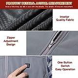 Vinmori Elektrische Beheizte Weste, Waschbare Größe Einstellbar USB-Lade Erhitzt Polaren Fleece Kleidung Winter Warme Weste (Schwarz)… - 6